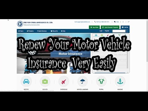 How To Renew your Motor Vehicle Insurance Online Very Easily
