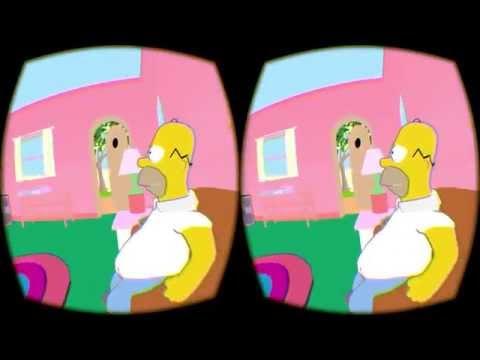 "Virtual Desktop for Oculus Rift - Custom ""Simpsons"" Environment (Hack)"