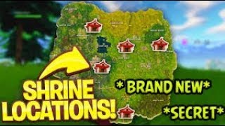 * BRAND NEW SECRET CHEST SPOTS * IN FORTNITE BATTLE ROYALE (7 NEW SHRINES)
