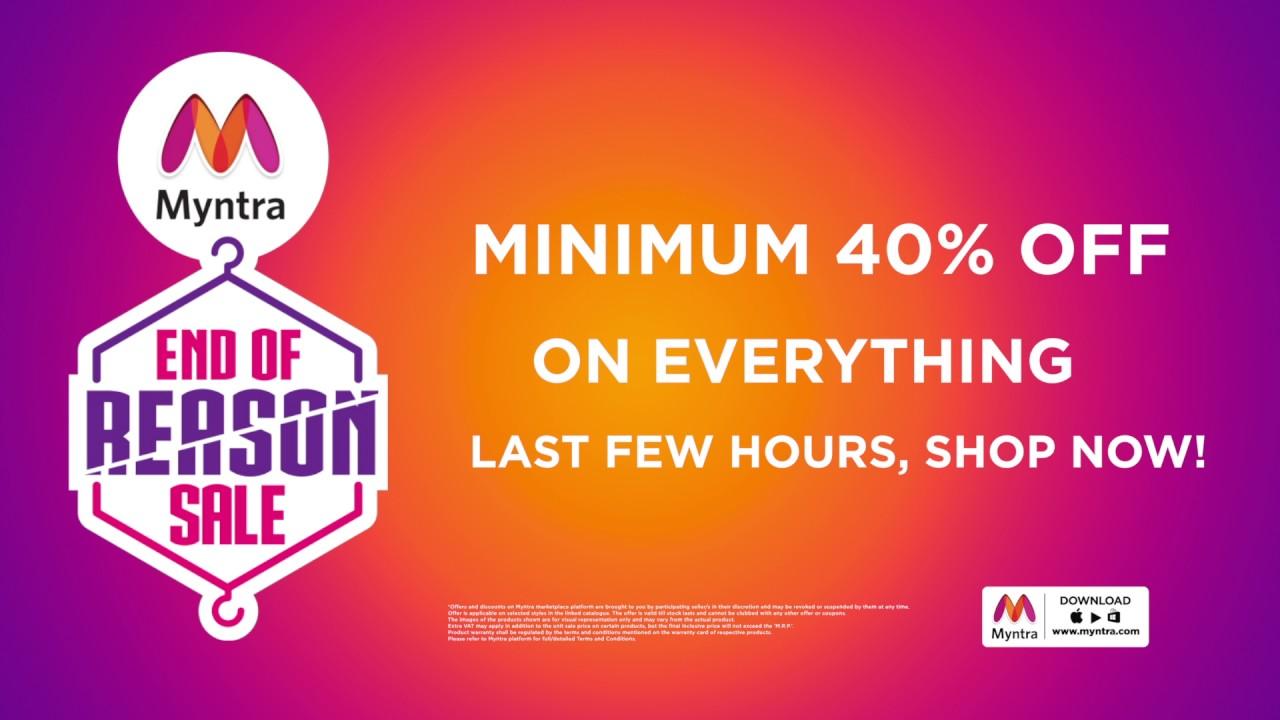 14abf0a70cfe Myntra End of Reason Sale