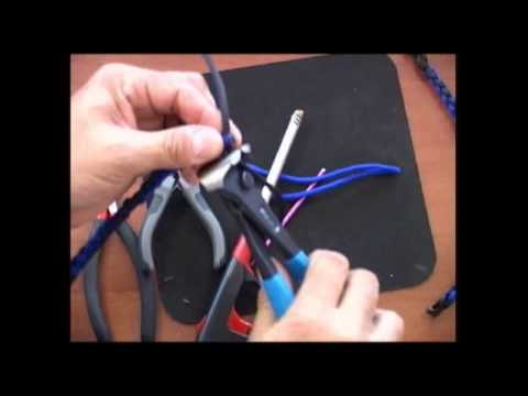 The Paracord Weaver: How To End a 4 Strand Round Braid Bracelet