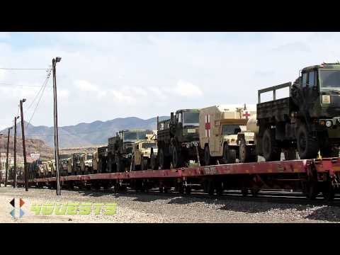 US Military Convoy, BNSF Railway