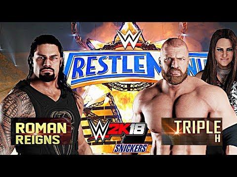 WWE 2K18 - Roman Reigns vs Triple H Match!