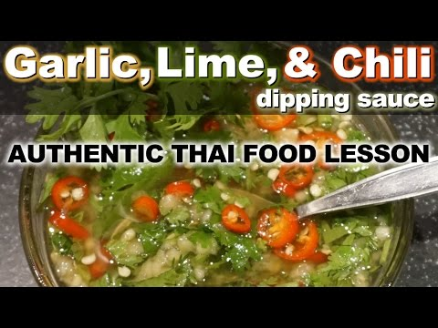 Authentic Thai Recipe for Garlic and Lime Seafood Dipping Sauce –  น้ำจิมซีฟูด – Nam Jim Seafood