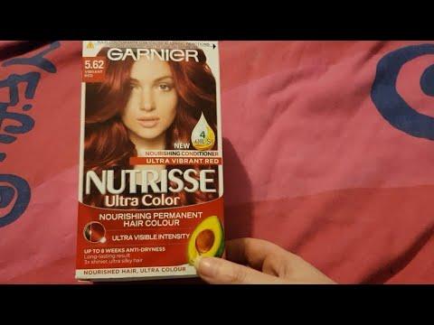 Garnier Nutrisse Ultra Color 562 Vibrant Red Youtube