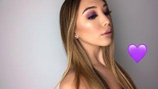 (very) Easy Purple Eyes Makeup Tutorial 💜 -Adorable Caro