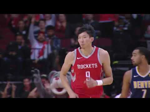 Zhou Qi CAREER HIGH vs Denver Nuggets HIGHLIGHTS 11/22/2017