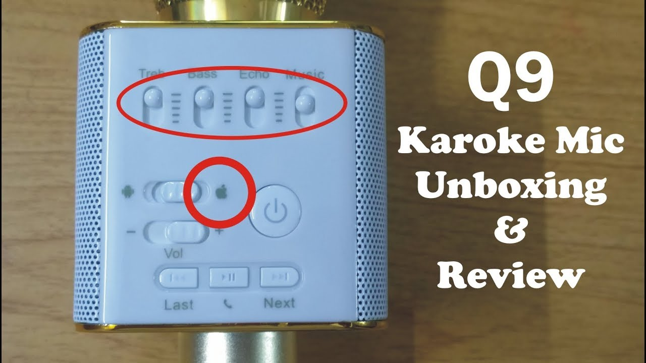 46159f91611 Q9 Karoke Mic Unboxing And Review | Q9 settings | Q9 features and setting|  Bluetooth Karaoke mic