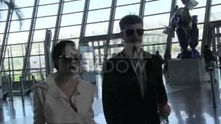 EXCLUSIVE: Dita Von Teese and boyfriend leaving Cannes via airport