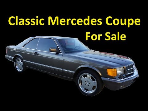 Buy a 560SEC Mercedes Coupe W126 C126 Classic Car For Sale Video