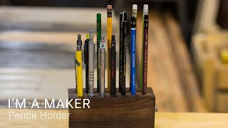 Making a simple pencil holder out of Salvaged Walnut | #maker #woodworking #diy