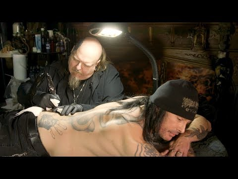 Cradle of Filth's Dani Filth Gets Tattooed by Paul Booth