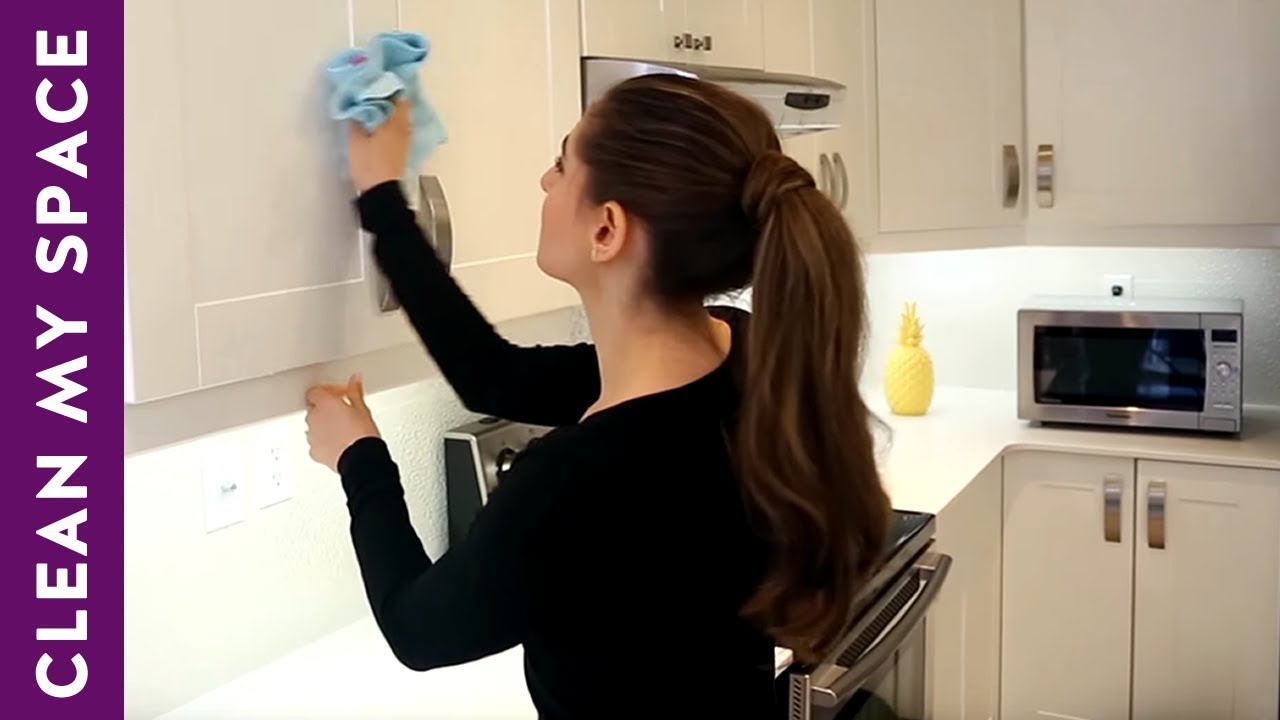 How To Clean Kitchen Cabinets Clean My Space Q A Youtube