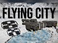 Space Engineers - Players Fight A Flying City