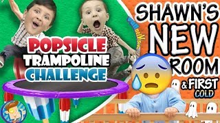 vuclip POPSICLE Trampoline Challenge / Shawn's New Bedroom + Baby's First Cold (๑◕︵◕๑)  FUNnel Vision VLOG