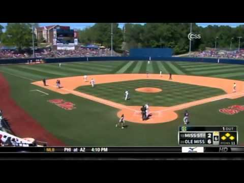 05/12/2013 Mississippi State vs Ole Miss Baseball Highlights