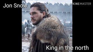 (GOT  )Jon snow  King in the north