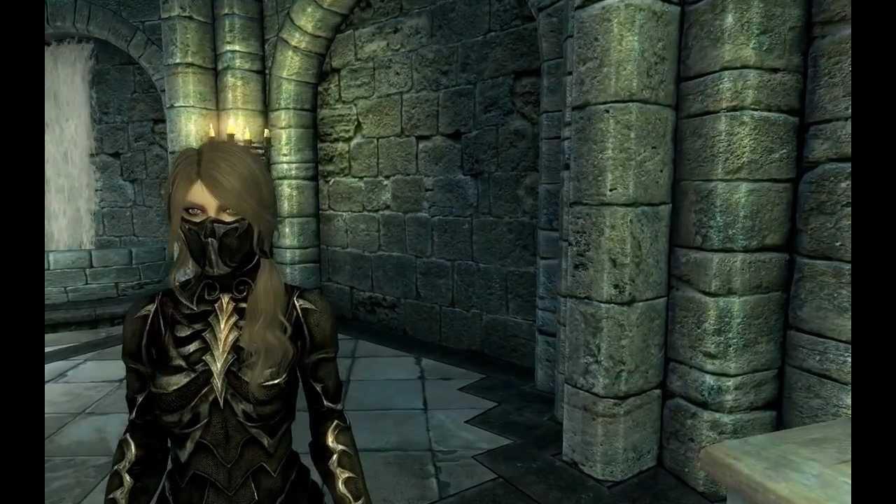 Skyrim Black Sacrement Armor Mod Youtube