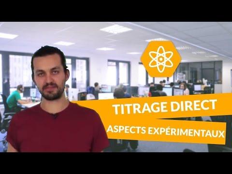 Le titrage direct aspects expérimentaux - Physique-Chimie - TS - digiSchool