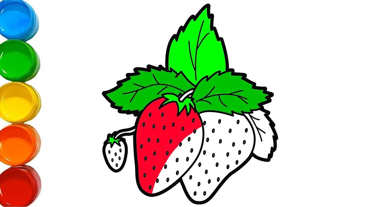 çilek Boyama Meyveleri öğreniyorum Meyveler Boyama Youtube