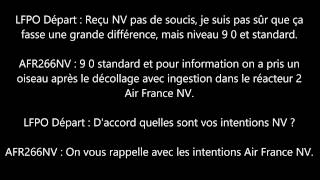 [ATC Recording] - Bird Strike Air France flight AF6266/AFR266NV at Paris Orly