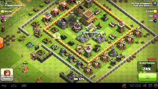 Clash of Clans - Raiding Town Hall 8 for 287K Gold, 294K Elixir - 2014-02-22
