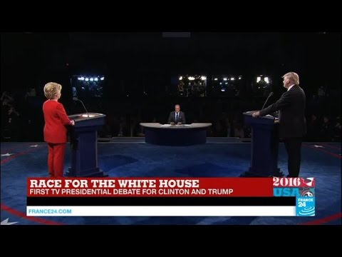 REPLAY - Watch the full US Presidential Debate opposing Clinton and Trump