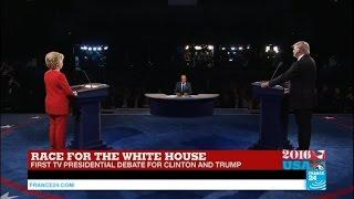 REPLAY - Watch the full US Presidential Debate opposing Clinton and Trump
