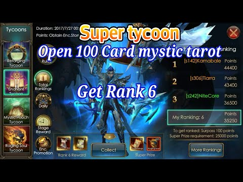 Super Tycoon, Open 100 Card Mystic Tarot get rank6, Legacy of discord