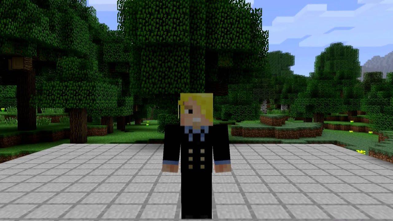 One Piece Sanji Minecraft Skin Spotlight YouTube - Skins para minecraft pe one piece