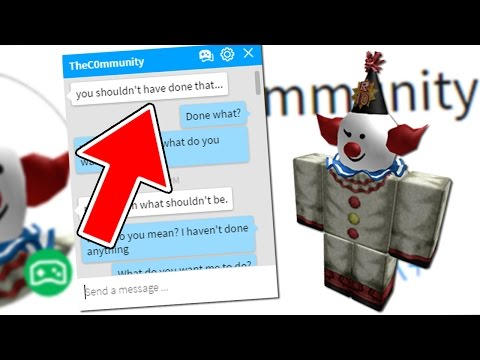 THEC0MMUNITY IS MESSAGING ME ON ROBLOX!!!