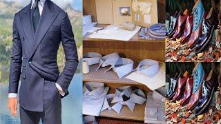 남성정장 네이비 색상과 다크 그레이 색상 디자인 구입방…