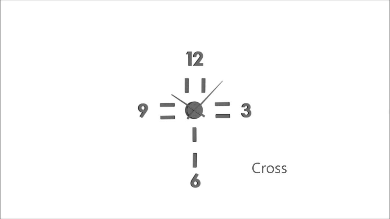 sticker wall clock inspiration by jvd youtube sticker wall clock inspiration by jvd