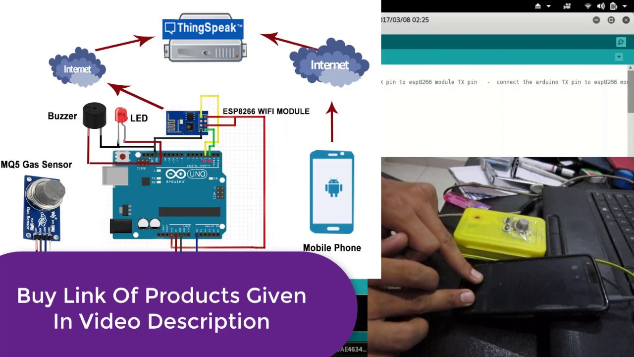 IOT Based LPG/CNG Gas Leakage Detection & Alert Using Arduino UNO