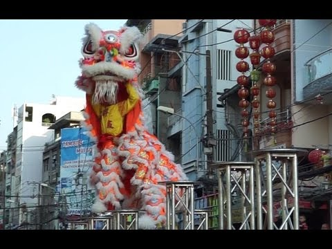 Lion Dance Chinese New Year Tet Saigon Vietnam