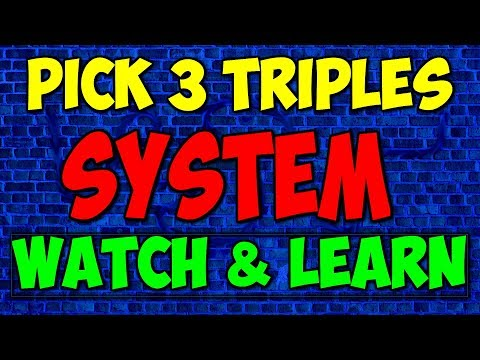 Win With Pick 3 Triples (great) 2018