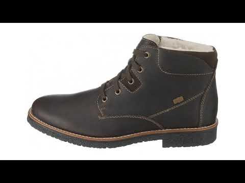 RIEKER Šněrovací boty tmavě hnědá - YouTube c0785b6319