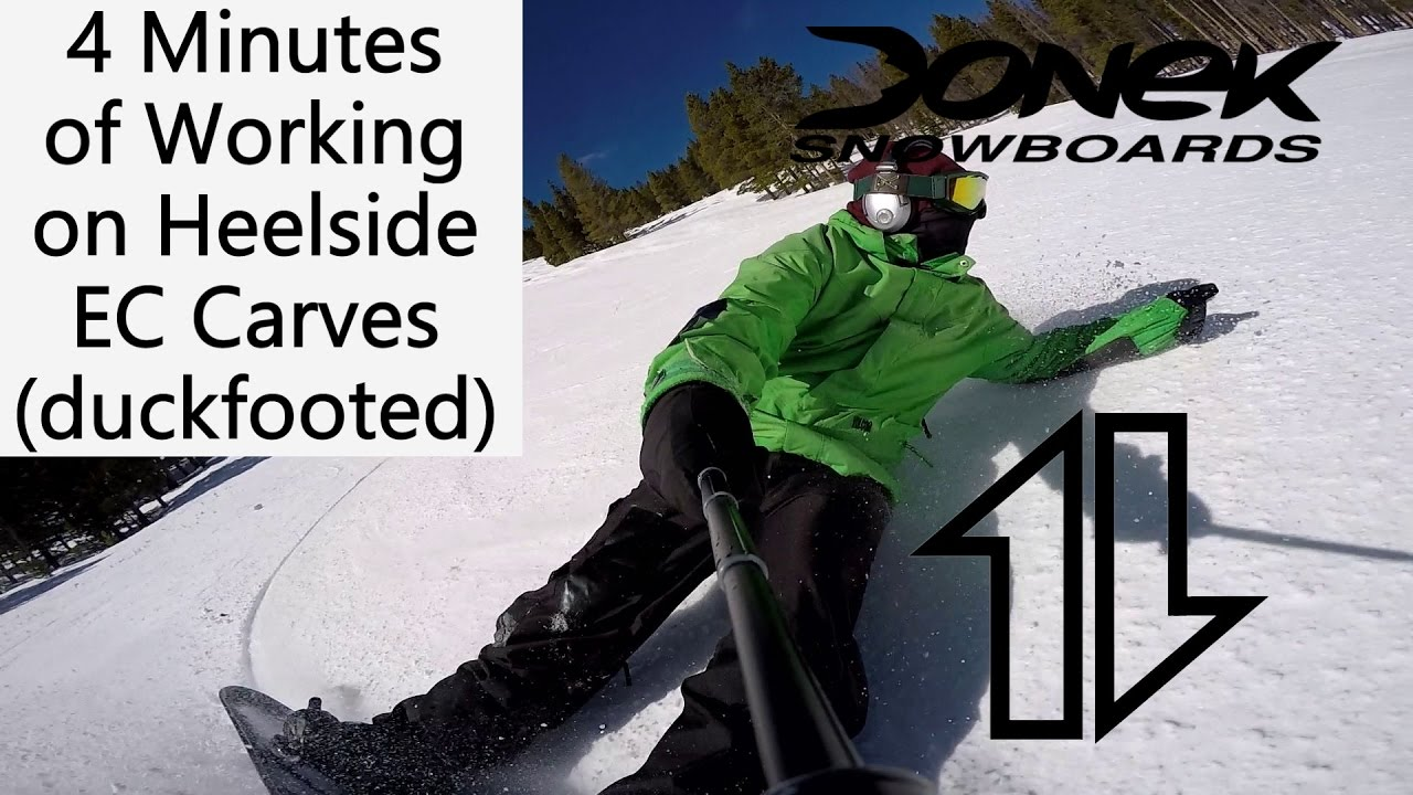 Working On Heelside Ec Snowboard Turns Youtube