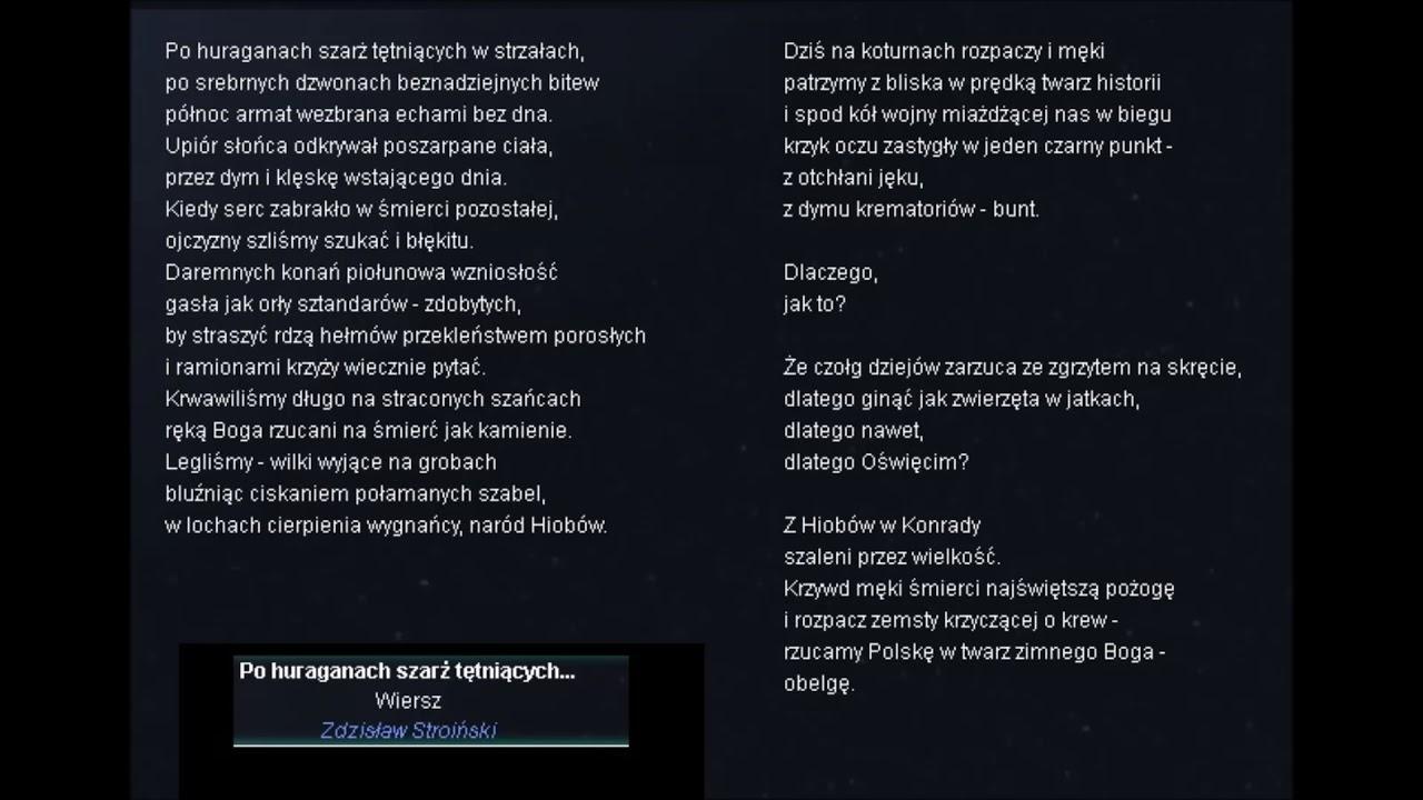 Czytam Zdzisław Stroiński Po Huraganach Szarż Tętniących