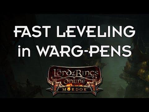 LOTRO - Fast Leveling via Warg-pens