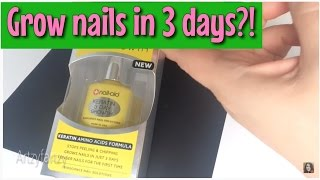 Grow nails in 3 days?! 3 Day Growth treatment - BEFORE & AFTER Review
