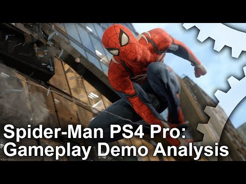 [4K] Spider-Man PS4 Pro E3 Gameplay Analysis
