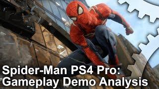 [4K] Spider-Man PS4 Pro E3 Gameplay Analysis