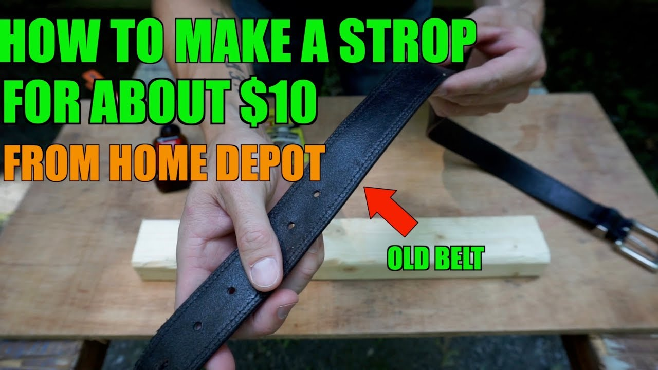how to make a strop from a belt