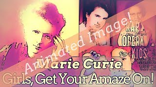 Marie Curie for Kids Biography Song (Animated Image) with Context Clues Worksheets