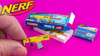 How to make Fortnite Nerf Gun CRAFTS and HACKS DollHouse for Barbie