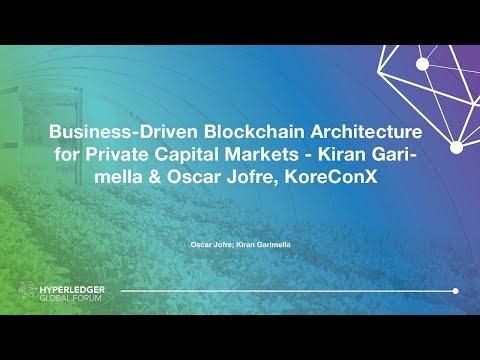 Business-Driven Blockchain Architecture for Private Capital Markets