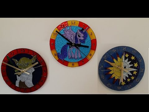 Glass Painted Clock Project.