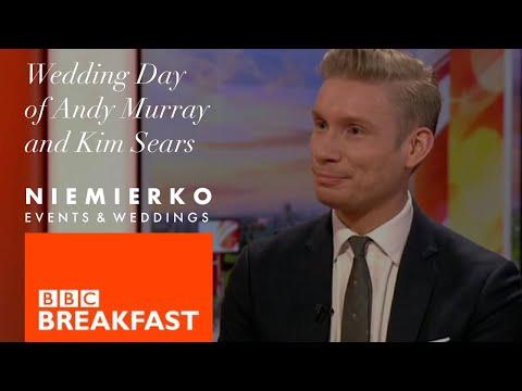 Mark Niemierko - BBC Breakfast - Andy Murray and Kim Sears Wedding - Clip 1