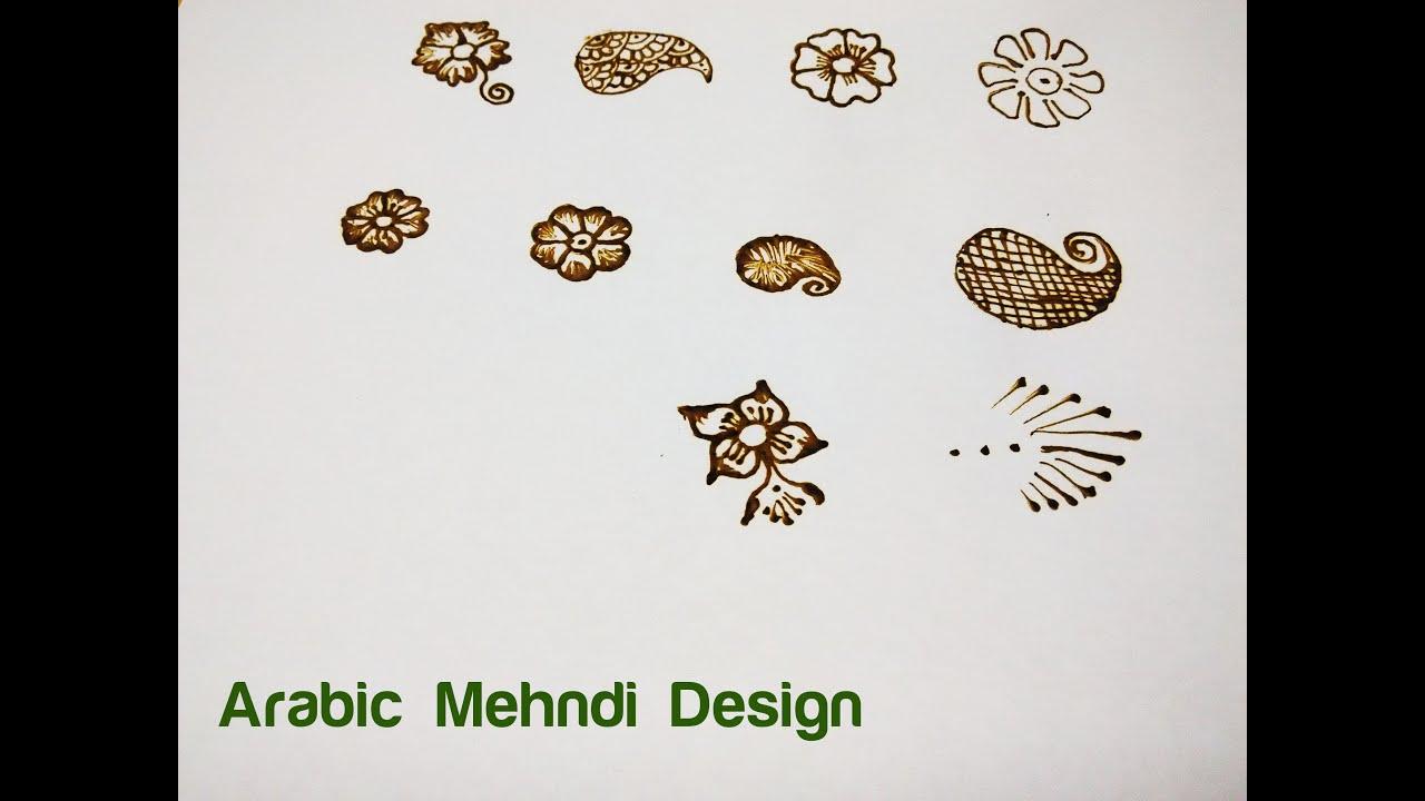 Learn Arabic Design Mehndi (Henna) Step by Step - 1. Basic Shapes ...